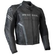 Richa Monza Leather Jacket Black/Grey